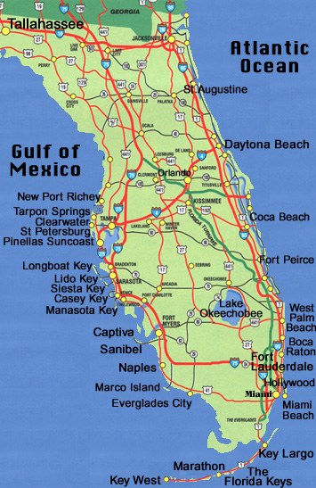 Florida Driving Map.Florida Map And Driving Directions Information For Siesta Key Florida